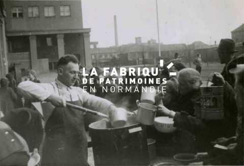 Distribution de soupe à Brix en 1941