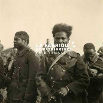 Portrait de soldats français issus des troupes coloniales