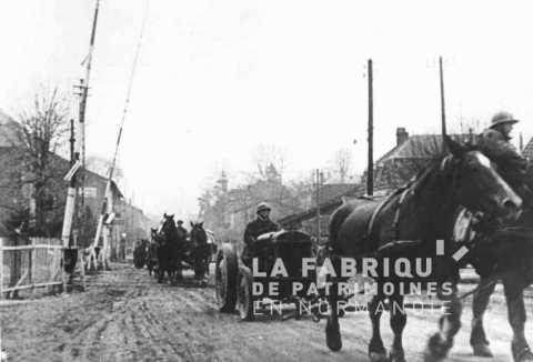 Réquisition de matériels agricoles par l'armée française
