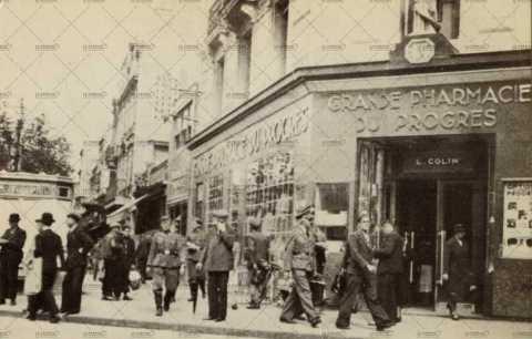 Pharmacie du progrès à Caen sous l'Occupation