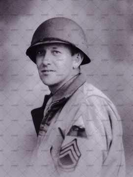 Portrait d'un sergent first class américain