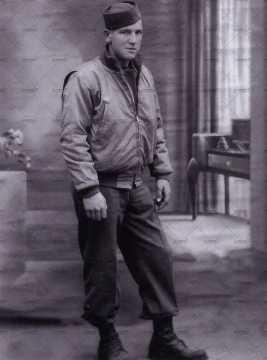 Portrait d'un soldat américain avec calot