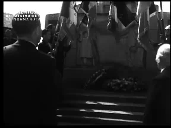 Inauguration de la foire exposition à Argentan le 24 avril 1949