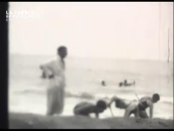 Colonie de vacances à la plage