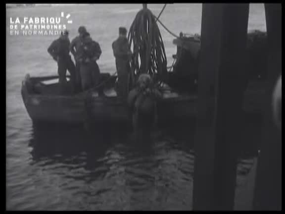 1944, port de Cherbourg